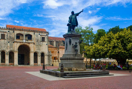 republic dominican: Christopher Columbus statue, Parque Colon, Santo Domingo