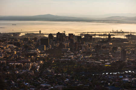 Cape Town seen from a high angle view photo