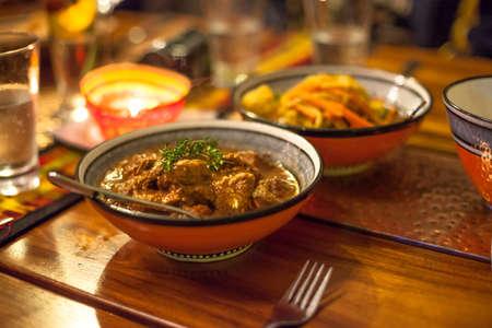 marocchini: Tradizionali pezzi di agnello africani pronti a mangiare