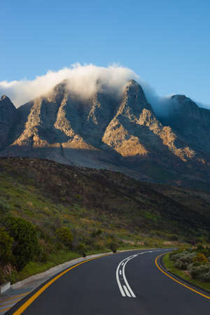 Curving highway near Cape Town, South Africa photo