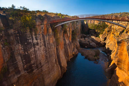 Bourkes Luck Potholes bridge, Mpumalanga, South Africa