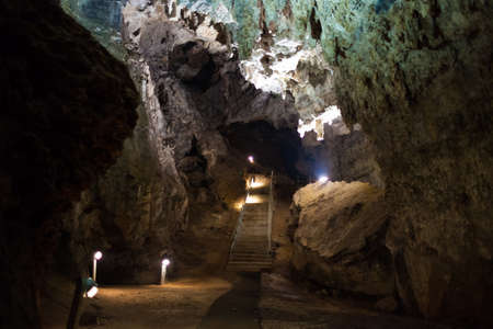 Inside the Cradle of Humankind archaelogical cave