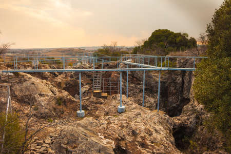 gauteng: Entrance to the Cradle of Humankind archaelogical cave