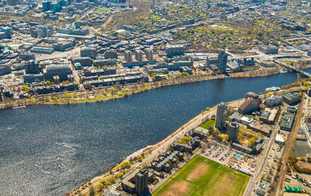 Aerial view of Boston University, Charles River, MIT's dorms photo