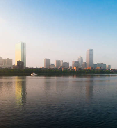 Boston's Back Bay skyline on a misty morning Stock Photo - 16342866