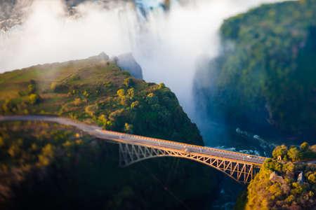 simbabwe: Bridge at Victoria Falls, ein Bungee-Jumping hot spot Lizenzfreie Bilder