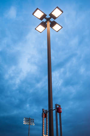Street light at dusk against blue cloudy sky Stock Photo - 16342765