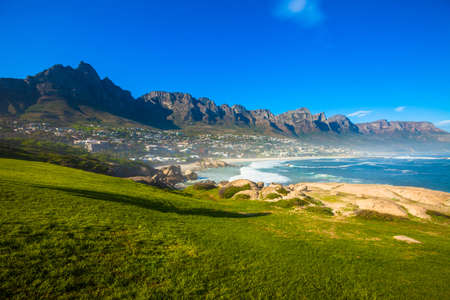 Camps Bay and hillside, Cape Town, South Africa photo