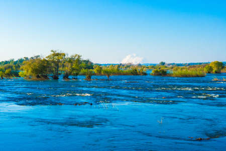 zambia: View over the Zambezi River on a calm afternoon