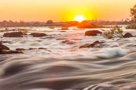 whitewater: Whitewater rapids at Victoria Falls, Livingstone, Zambia