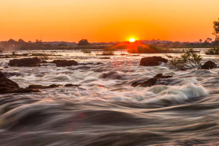 Whitewater rapids at Victoria Falls, Livingstone, Zambia photo