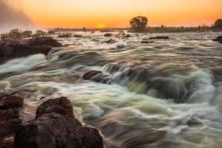 water's edge: Whitewater rapids at Victoria Falls, Livingstone, Zambia