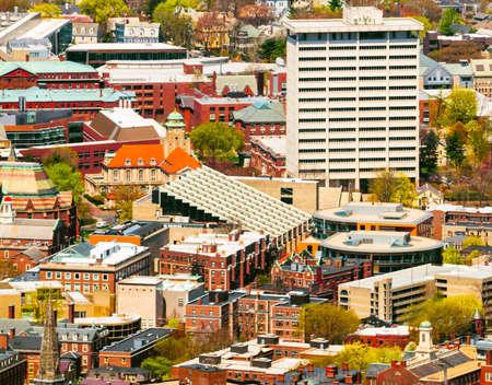 harvard university: Aerial view of the Harvard University campus Stock Photo