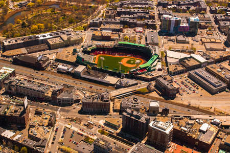 Aerial view of Bostons Fenway Park Stadium photo