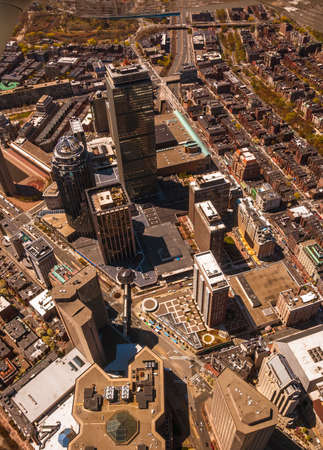 Bostons Back Bay area and downtown from the air photo