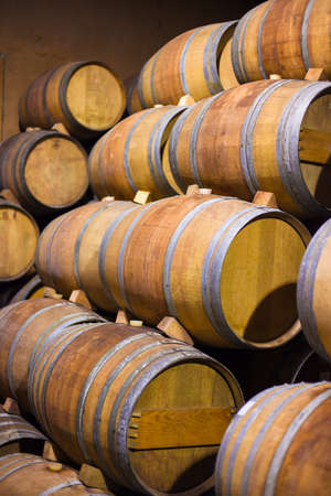 Barrels of South African in the Stellenbosch region Stock Photo