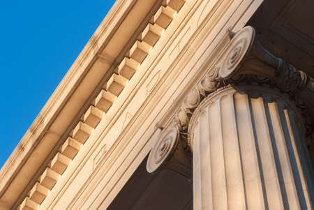 Detailed view of Greek style architectural column Stock Photo - 17159122