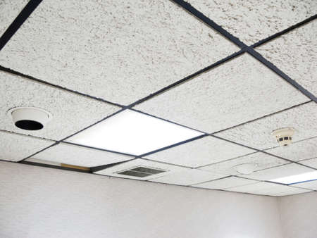 drop ceiling: Office drop ceiling with white flourescent lights