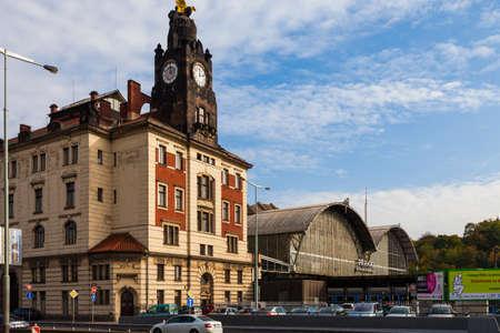 praha: Praha hlavní nádraží (Prague central station), Czech Republic Editorial