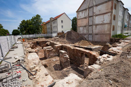 excavations: Excavations in Frankfurt (Oder), Germany, on a sunny day