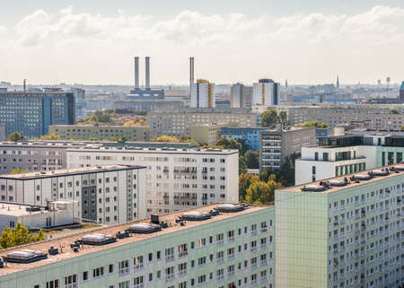 east berlin: View over former East Berlin, Germany with characteristic architecture