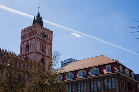 mary's: St. Marys Church and city library, Frankfurt (Oder), Germany