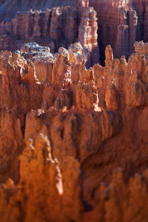 tilt: View over Bryce Canyon Utah, tilt shift effect