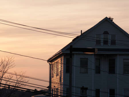multifamily: Townhouse in Boston, Massachusetts seen in the evening