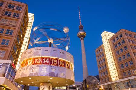 tv tower: Berlins Alexanderplatz, Weltzeituhr (World Time Clock), and TV Tower Editorial