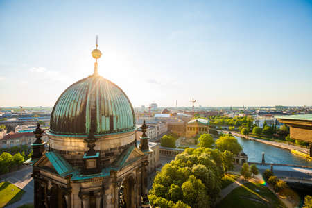 dom: The Berliner Dom and River Spree with bright sun