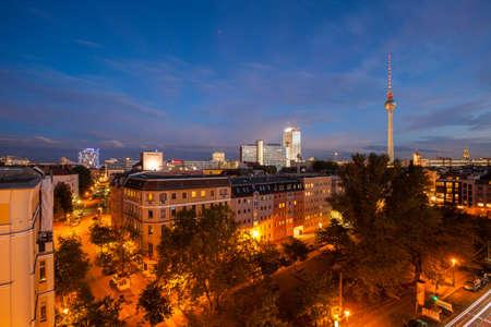 BERLIN - October 2, 2016: Berlins Alexanderplatz and Fernsehturm (TV Tower) on October 2, 2016.
