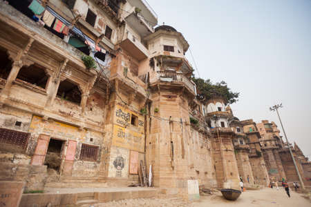 benares: Chousatti Ghat in Varanasi, India