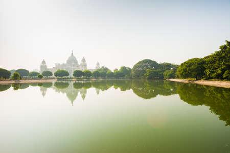 kolkata: The Victoria Memorial in Kolkata, India with reflection