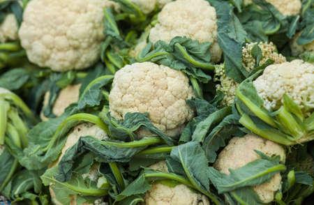 Fresh cauliflower (Brassica oleracea) at market in Nepal