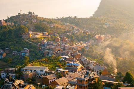 nepali: View over Bandipur Bazaar, Nepal