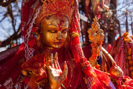 Statue of Pathibhara Devi at Pathibhara Devi Temple, Taplejung, Nepal