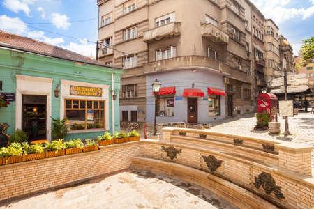 Cafes in the Skadarlija (Skandarska) bohemian quarter, Belgrade