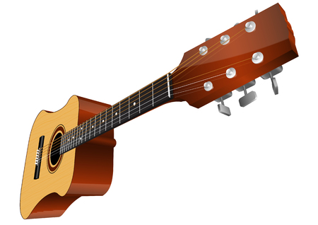 Guitar vector illustration isolated on white background