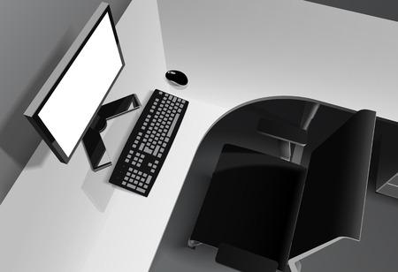 Vecteur noir et blanc illustration photoréaliste vue de côté haut