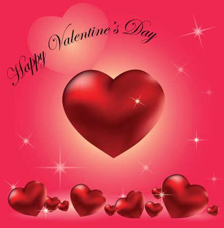 발렌타인 하트 배경입니다. 벡터
