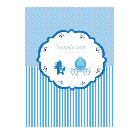 Baby boy shower card. Its a girl and boy.White bacground Flat design Vector illustration Illustration