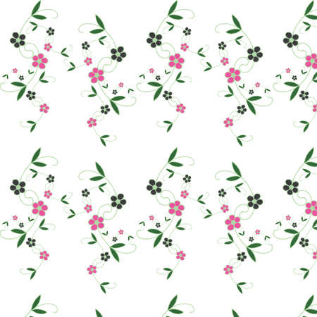 lilas: Seamless floral pattern. For easy making seamless pattern just drag all group into swatches bar, and use it for filling any contours.