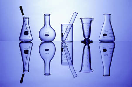 Science Laboratory glassware for research
