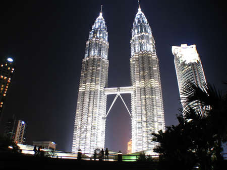 place of interest: Twin Towers in Malaysia Stock Photo
