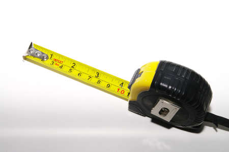 A construction measuring tape 版權商用圖片