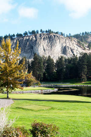 country club: Kelowna Golf and Country Club golfing green