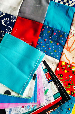 Multi-coloured Quilt Blocks ready for quilting