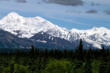 denali: Mt. Denali from the south along the Alaskan rail line
