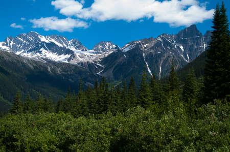 The mountian range near Rogers Pass Stock Photo - 48826810