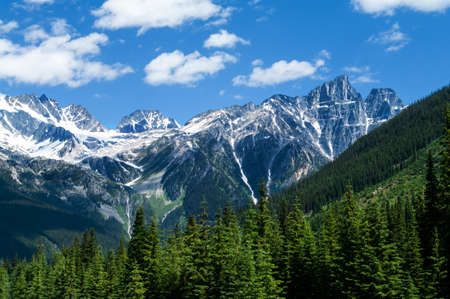 The mountian range near Rogers Pass